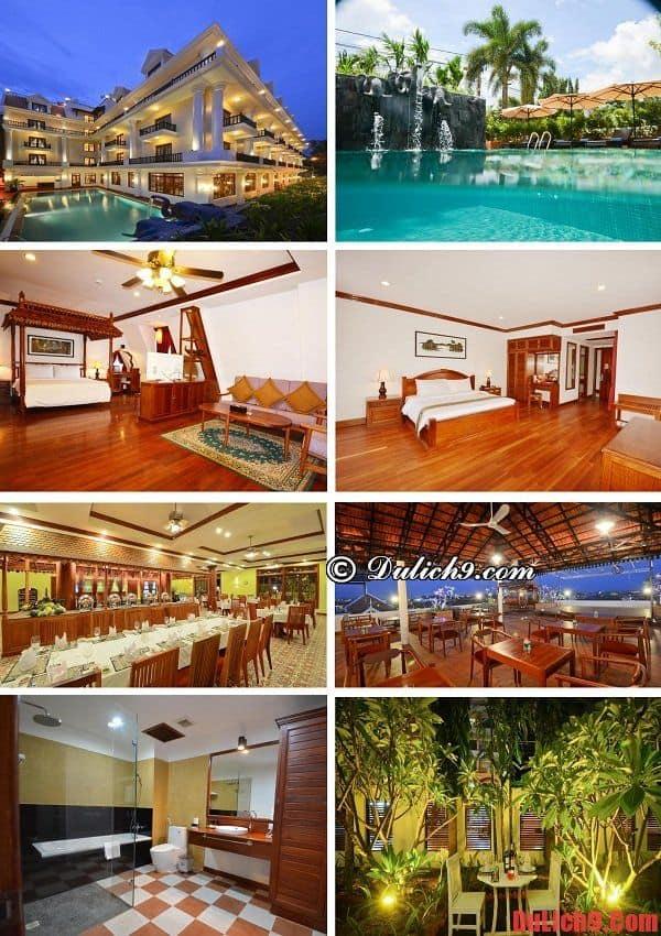 Khách sạn sạch đẹp, tiện nghi hiện đại, tầm nhìn đẹp, giá tốt nên ở khi du lịch Siem Reap