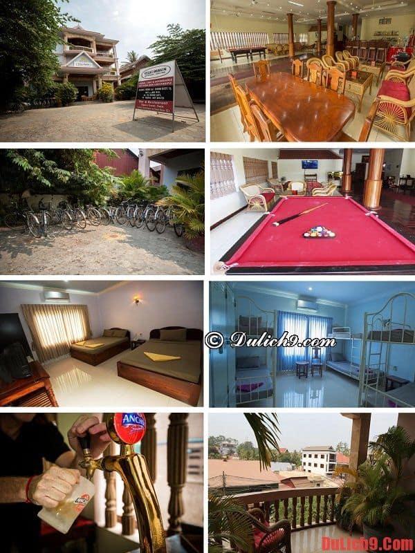 Khách sạn giá rẻ đẹp, tiện nghi, chất lượng, gần các điểm du lịch nổi tiếng và trung tâm nên đặt phòng nhất khu du lịch Siem Reap, Campuchia