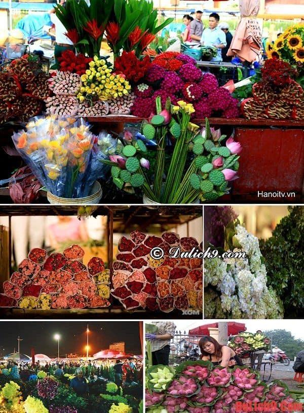 Chợ hoa Tết nổi tiếng nên đến khi du lịch Hà Nội