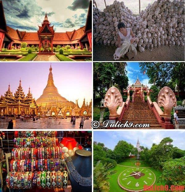 Kinh nghiệm du lịch Phnom Penh dịp tết. Một số địa điểm tham quan, du lịch nổi tiếng nên đến khi du lịch Phnom Penh dịp Tết
