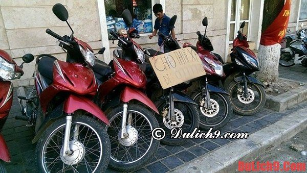 Kinh nghiệm thuê xe máy ở Sapa