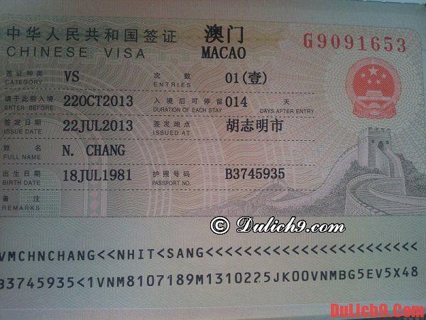 Xin visa du lịch Macao có khó không?