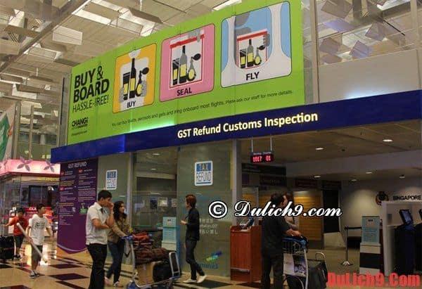 Hướng dẫn hoàn thuế khi shopping ở Singapore