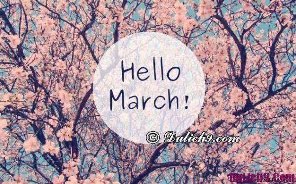 Tháng 3 nên đi du lịch nước nào đẹp?