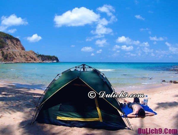 Kinh nghiệm du lịch Hòn Sơn Kiên Giang - Nhà nghỉ, cắm trại khi du lịch đảo Hòn Sơn