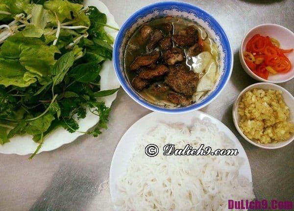 Các quán bún chả ngon nhất ở Hà Nội