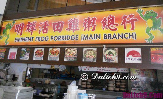 Quán cháo ếch ngon ở Singapore