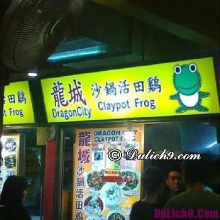 Địa chỉ ăn cháo ếch ở Singapore nổi tiếng