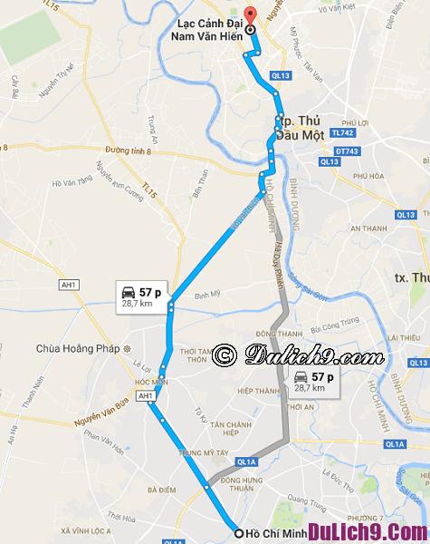 Đi xe máy từ Sài Gòn tới khu du lịch Đại Nam