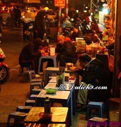 Địa chỉ ăn đêm nổi tiếng ở Hà Nội