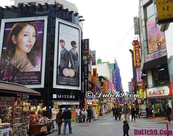 Kinh nghiệm mua sắm ở Seoul. Du lịch Soul mua sắm ở đâu?