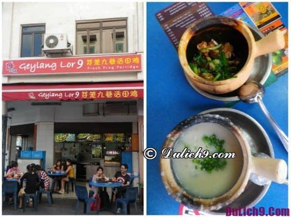 Cháo ếch Singapore ăn ở đâu ngon?