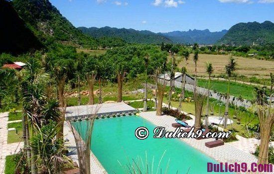 Nên ở đâu khi đến Phong Nha Kẻ Bàng du lịch: Khách sạn có bể bơi ở gần Phong Nha Kẻ Bàng tiện nghi, chất lượng