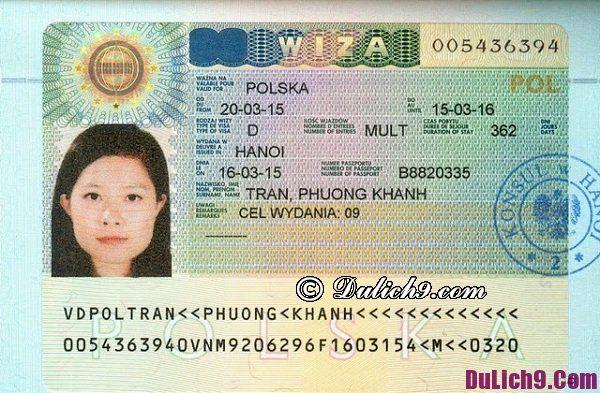 Thủ tục xin visa Ba Lan