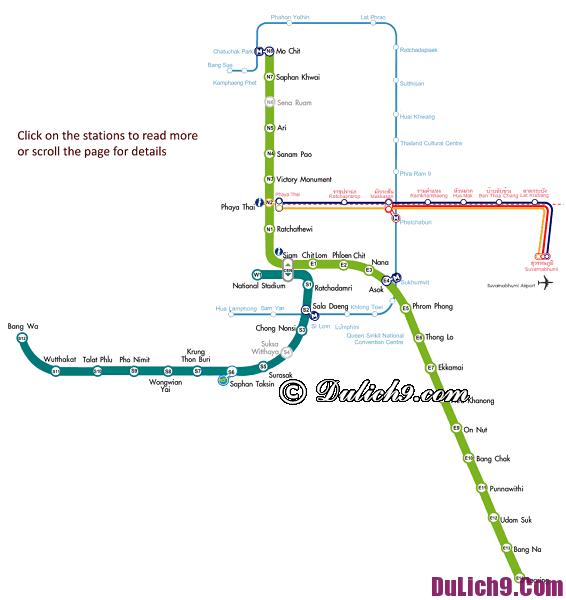 Hướng dẫn đi tàu điện ở Bangkok
