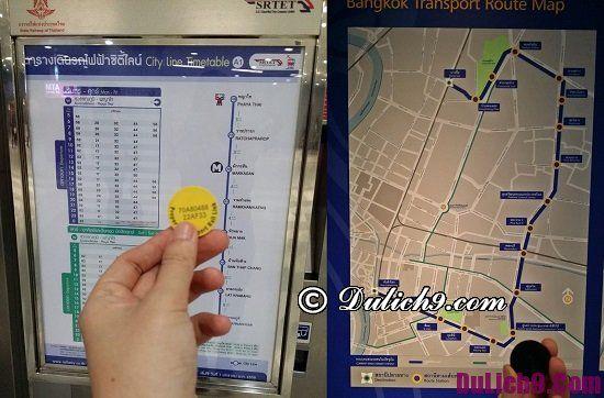 Hướng dẫn cách mua vé tàu điện ở Bangkok