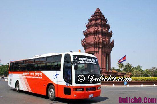 Các hãng xe bus đi Campuchia từ Sài Gòn