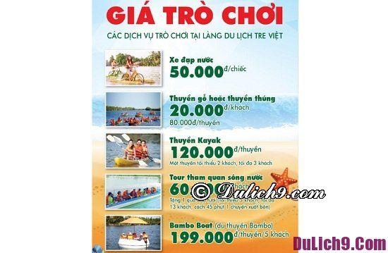 Bảng giá dịch vụ vui chơi ở khu du lịch nổi tiếng ở Đồng Nai: Làng Tre Việt, nơi vui chơi hấp dẫn ở Đồng Nai