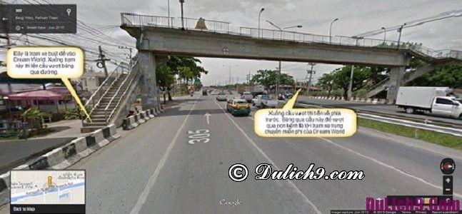 Kinh nghiệm đi Dream World Bangkok - phương tiện đi lại: Hướng dẫn đường đi tới Dream World Bangkok