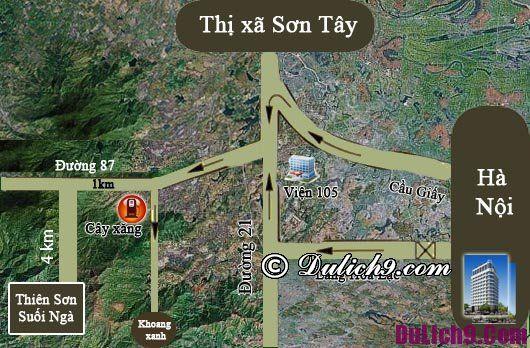 Kinh nghiệm du lịch Thiên Sơn Suối Ngà - phương tiện di chuyển và đường đi du lịch Thiên Sơn Suối Ngà