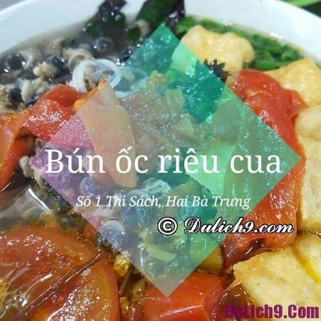 Bún riêu phố Thi Sách - Quán bún riêu ngon chuẩn vị Hà Nội: Ăn bún riêu cua ở đâu Hà Nội chuẩn nhất