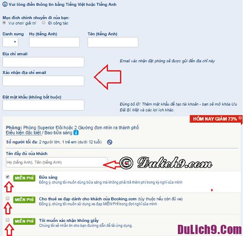 Hướng dẫn chi tiết quy trình đặt phòng khách sạn qua website Booking.com