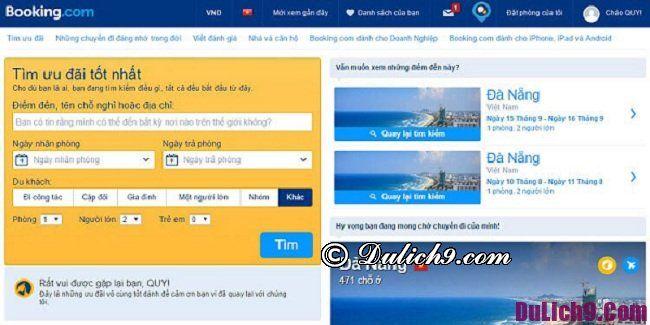 Những lưu ý khi đặt phòng khách sạn tại Booking.com