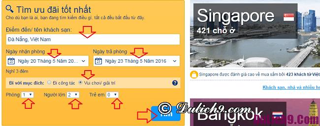 Quy trình đặt phòng khách sạn qua Booking.com