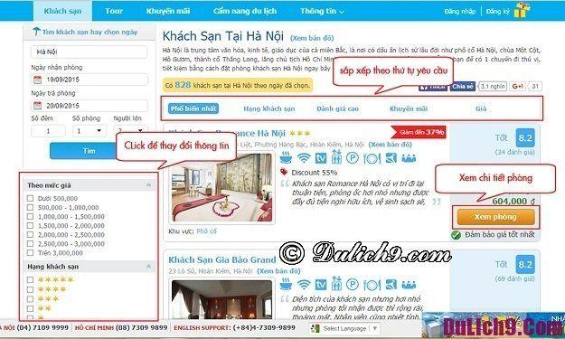 Quy trình đặt phòng khách sạn bằng website Mytour.vn đơn giản, nhanh chóng