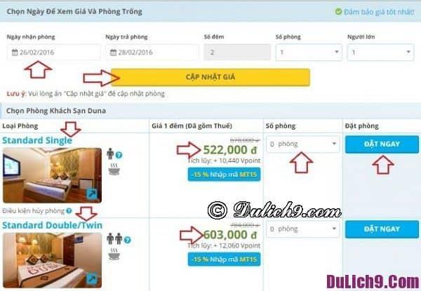 Các phương thức thanh toán khi đặt phòng khách sạn tại Mytour.vn
