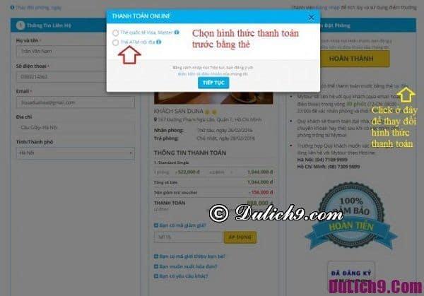 Kinh nghiệm đặt phòng trên Mytour giá rẻ: Quy trình các bước đặt phòng khách sạn online qua Mytour.vn