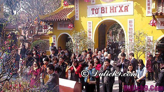 Tết nên đi chùa nào lễ phật, cầu may ở Hà Nội?