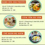 Địa chỉ, thông tin những món ăn ngon, nổi tiếng nhất Sài Gòn ở Hà Nội