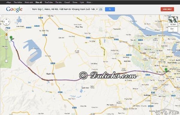 Hướng dẫn du lịch Khoang Xanh: Bản đồ, hướng dẫn đường đi du lịch Khoang Xanh từ Hà Nội