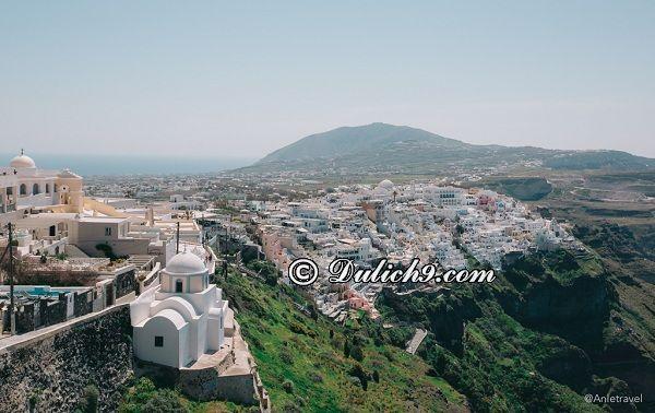 Đi đâu chơi khi du lịch đảo Santorini? Hướng dẫn tour du lịch đảo Santorini giá rẻ