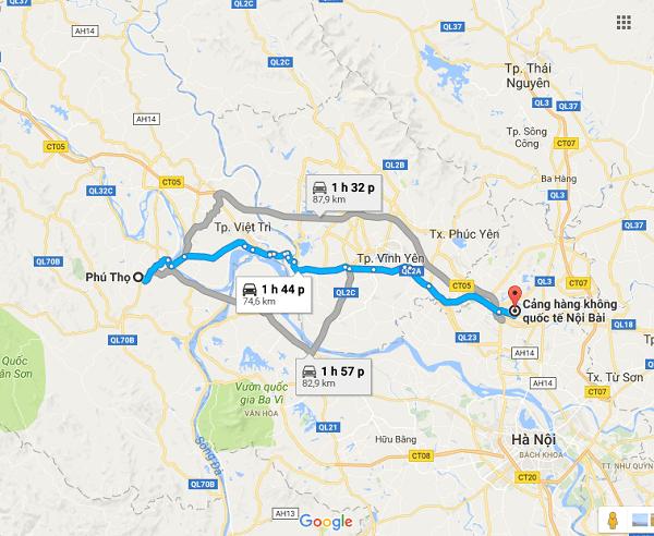 Hướng dẫn đi từ Hà Nội tới Phú Thọ/ Phương tiện đi phượt Phú Thọ