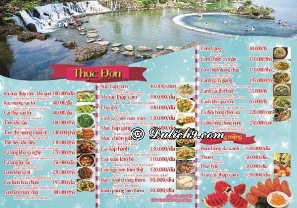 Nên ăn gì khi tới công viên Suối Mơ?
