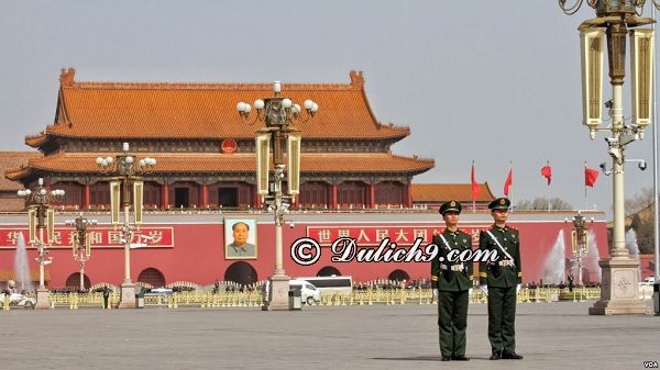 Quảng trường Thiên An Môn - địa điểm nổi tiếng ở Bắc Kinh: Du lịch Bắc Kinh đi đâu tham quan, du lịch?