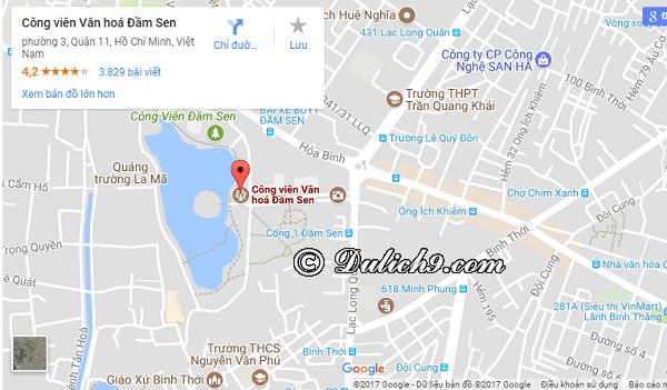 Tới công viên văn hóa Đầm Sen thế nào/có xe bus đi qua không? Hướng dẫn đường đi tới khu công viên văn hóa Đầm Sen