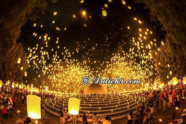 Lễ hội thả đèn trời ở Chiang Mai diễn ra khi nào? Kinh nghiệm du lịch Chiang Mai dịp thả lễ hội đèn trời