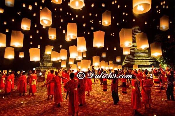 Lễ hội thả đèn trời ở Chiang Mai diễn ra khi nào? Kinh nghiệm tham quan, vui chơi ở Chiang Mai dịp lễ hội thả đèn trời