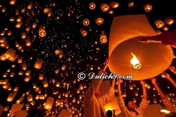 Kinh nghiệm đi Chiang Mai dịp lễ hội thả đèn trời: Thời gian và địa điểm diễn ra lễ hội đèn trời ở Chiang Mai