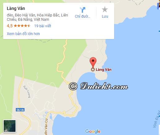 Cách di chuyển tới Làng Vân/ Đường đi tới Làng Vân: Hướng dẫn đường đi du lịch Làng Vân, Đà Nẵng