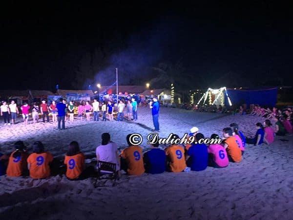 Cảnh DươngBeachcamp có gì chơi? Hoạt động vui chơi, cắm trại vào buổi tối ở Beachcamp