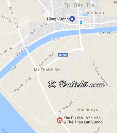 Khu du lịch Lan Vương ở đâu? Vị trí, địa chỉ của khu du lịch Lan Vương, Bến Tre
