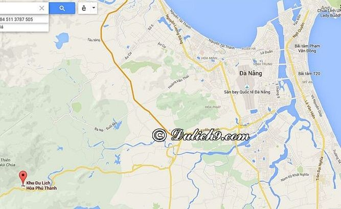 Hướng dẫn đường đi du lịch Hòa Phú Thành: Đường đi tới Hòa Phú Thành/ Phương tiện đi khu du lịch Hòa Phú Thành