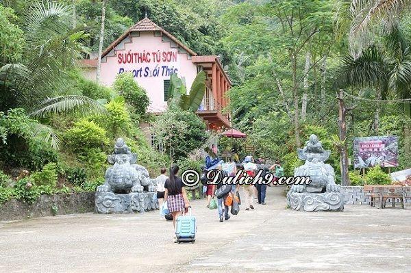 Hướng dẫn tham quan du lịch Cửu Thác Tú Sơn, Kim Bôi: Kinh nghiệm phượt Cửu Thác Tú Sơn, giá vé vào cổng, dịch vụ của Cửu Thác Tú Sơn