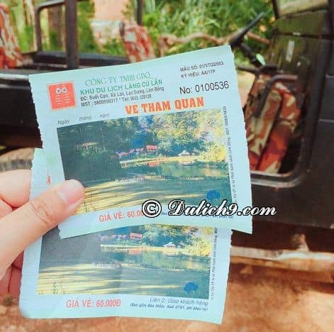 Giá vé tham quan Làng Cù Lần - Đà Lạt: Du lịch làng Cù Lần, Đà Lạt hết bao nhiêu tiền?