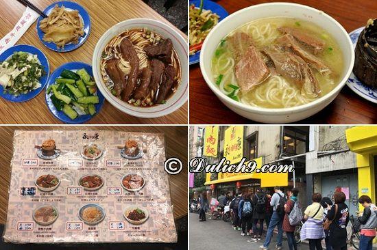 Mì bò Yong Kang - Quán ngon, giá tốt ở Đài Loan: Du lịch Đài Loan đi ăn ở đâu ngon?