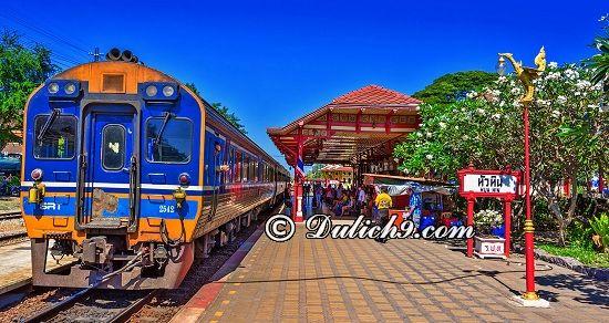 Hua Hin train Station/ Địa điểm du lịch nổi tiếng ở Hua Hin. Du lịch Hua Hin nên đi đâu chơi, tham quan?